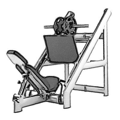 Жим ногами 45° нагрузка до 800 кг AV301/100