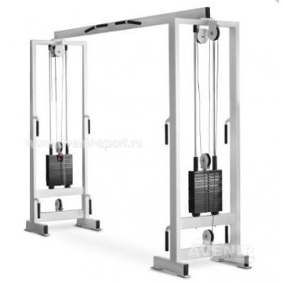 Блочная рама двойная (кроссовер) 2х80 кг AV202/80