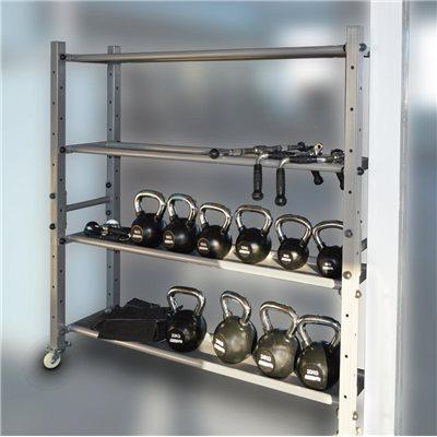 Стойка для хранения слэмболов, гирь, гантель, дисков кросфит AV610/80